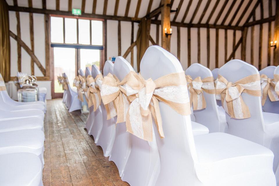 The wedding chairs at bury lodge
