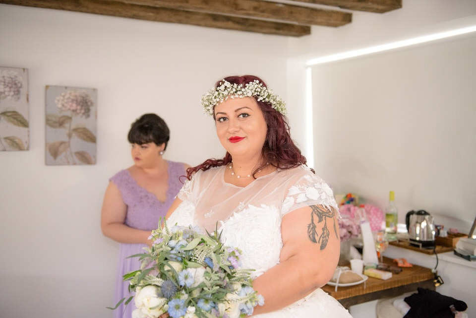 The bride looking stunning