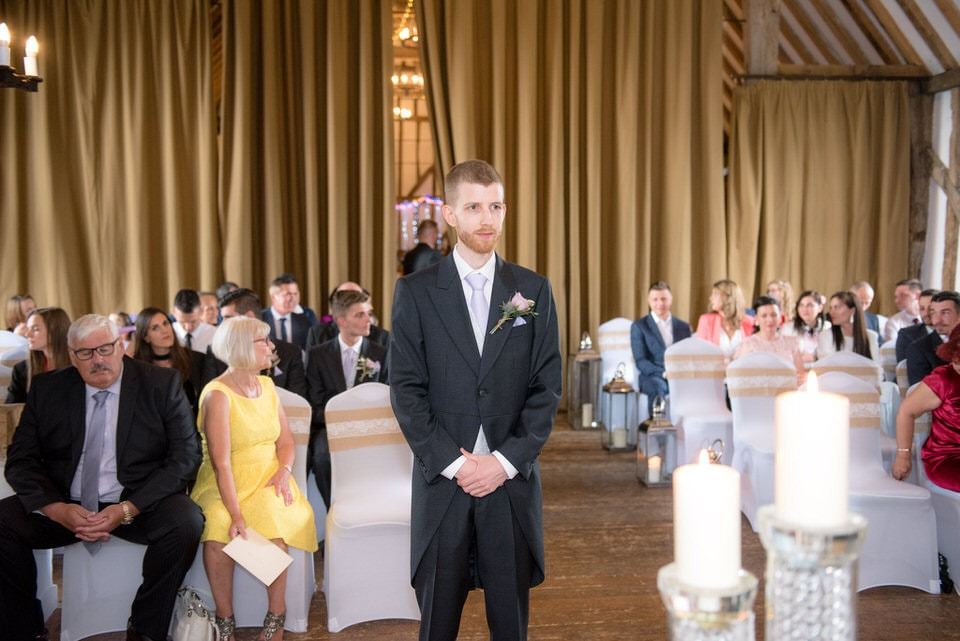 The groom awaiting the arrival of the bride