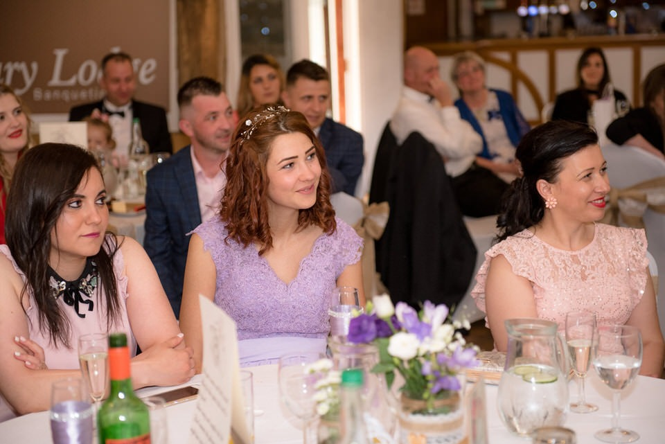 Guests enjoying the speeches