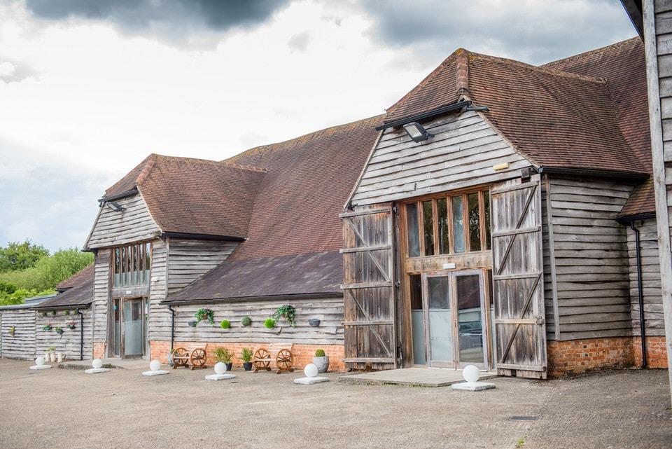 The rustic barn at bury lodge