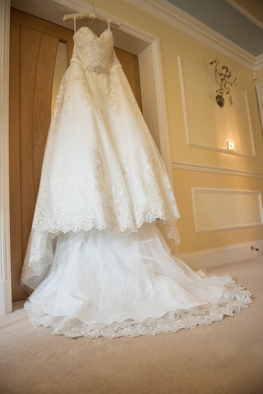 The stunning wedding dress