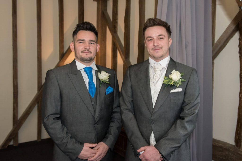 The groom and his best man before the Essendon Country Club Weddings Celebration