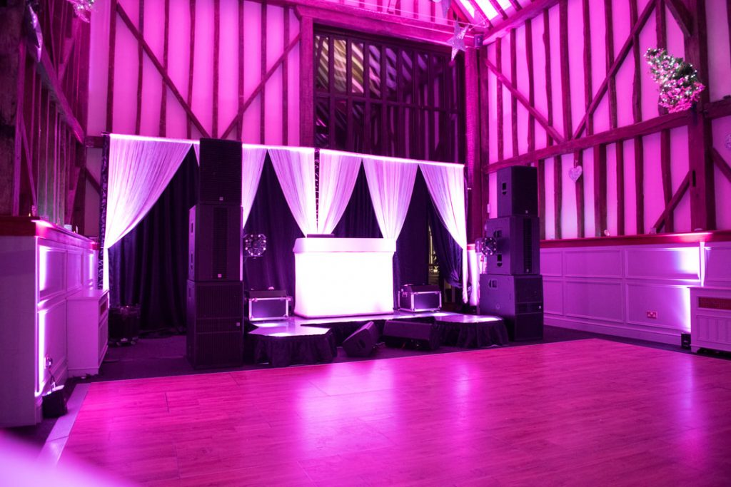 The DJ booth and dancefloor at Essendon Country Club Weddings Venue
