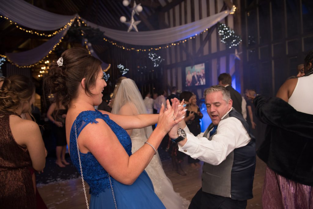 Two guests dance together at the Essendon Country Club Weddings venue