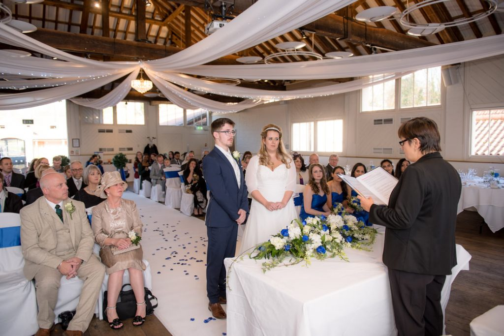 A Wedding Ceremony at Ridings Barn Theobalds Park