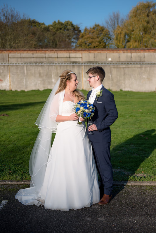 The married couple at Ridings Barn