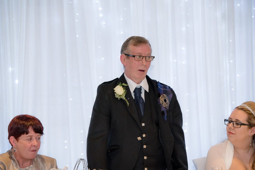 The father of the bride giving his speech