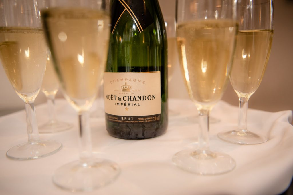Champagne and glasses for celebrations