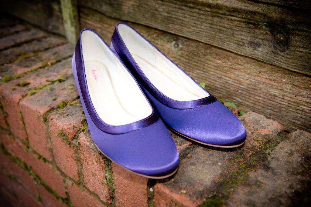 The brides purple wedding shoes