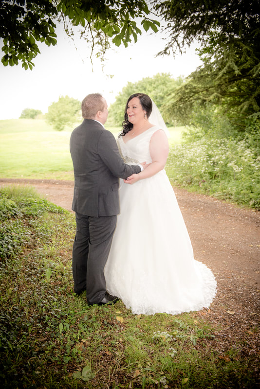 The bride and groom at great hadham country club