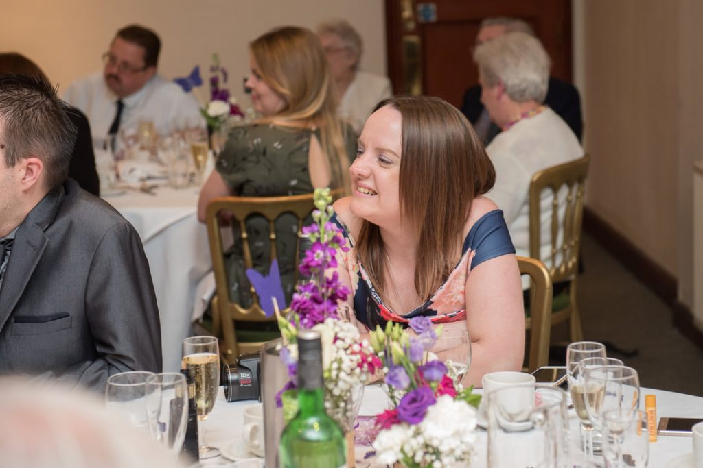 Guests enjoy listening to the speeches