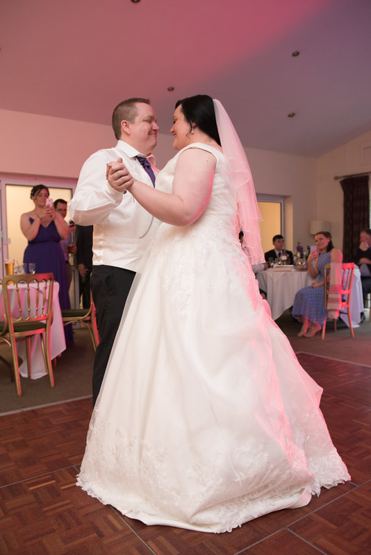 The first dance of the bride and groom