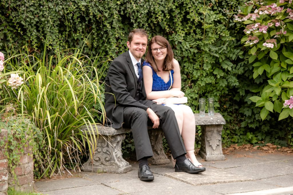 Guests sit together at Great Hallingbury Manor