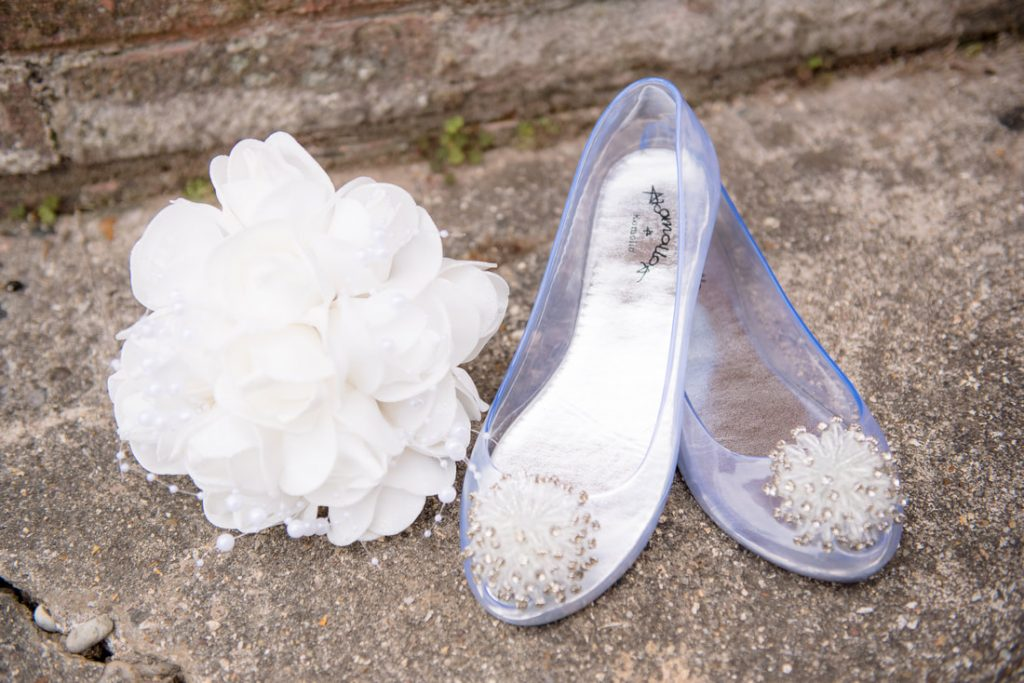 See through wedding shoes