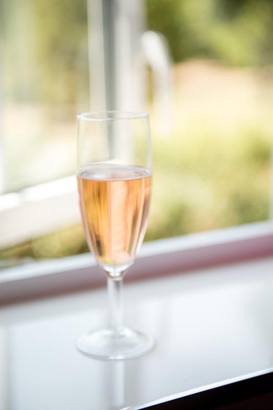 A celebration drink on a window sill