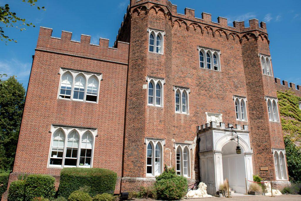 Outside Hertford Castle