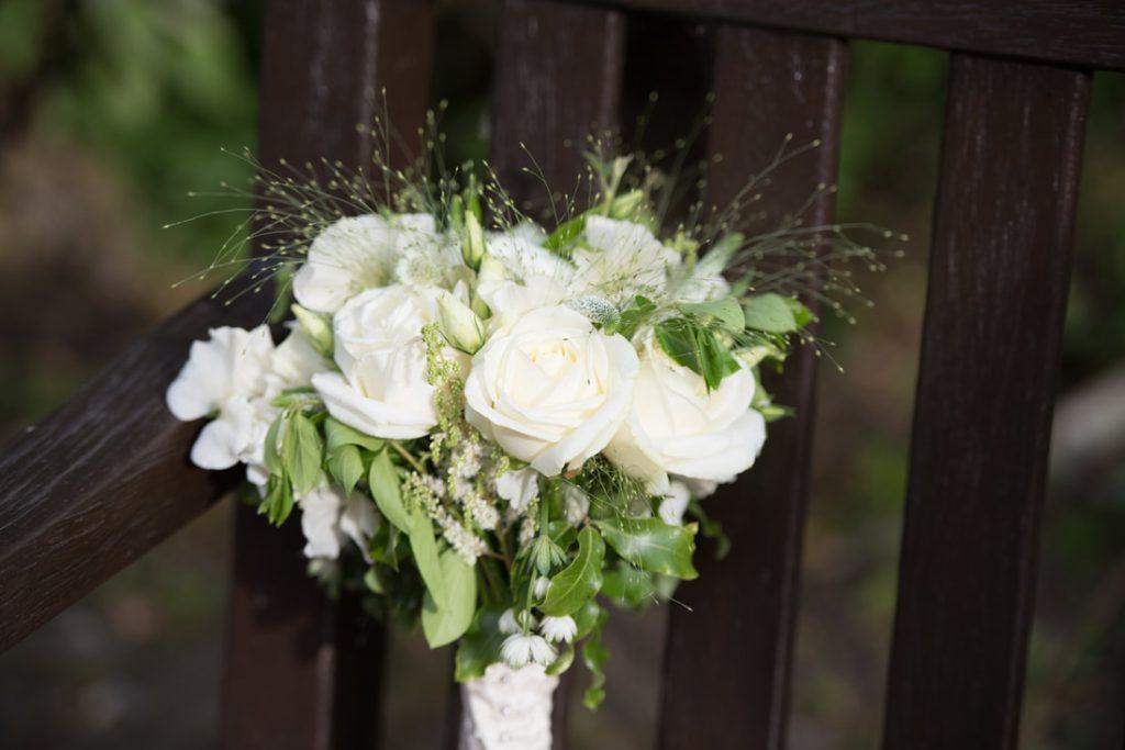 The brides bouquet of flowers