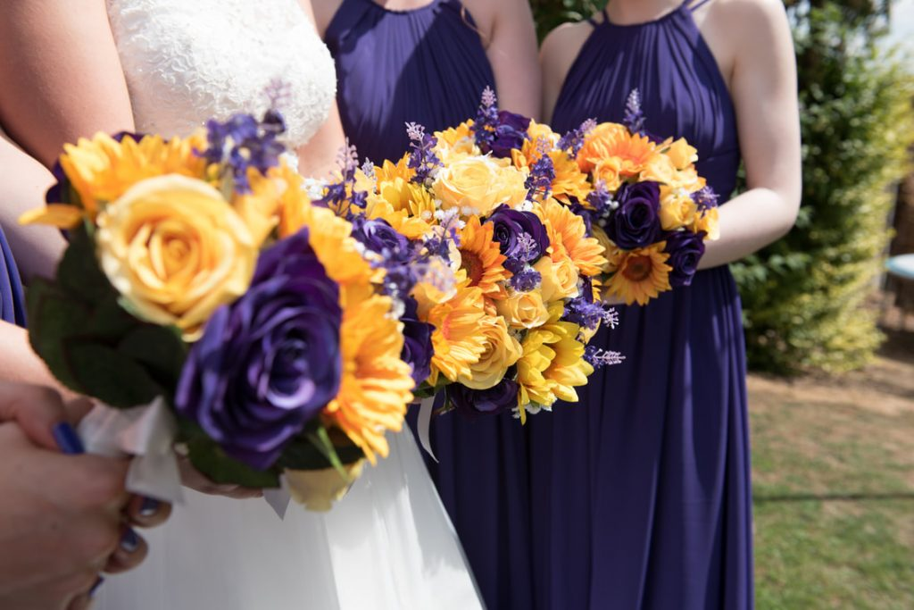 The wedding bouquets