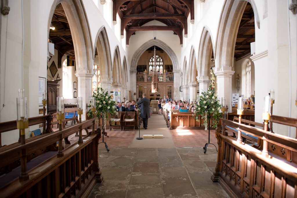 A photo from inside Hitchin Church