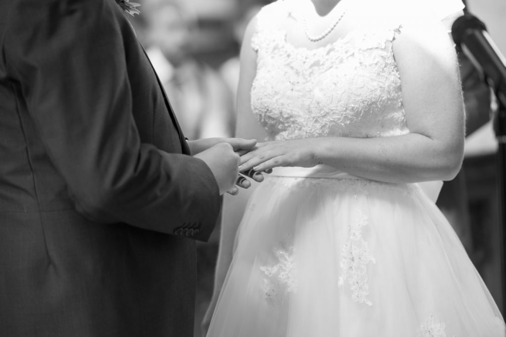 The exchange of wedding rings