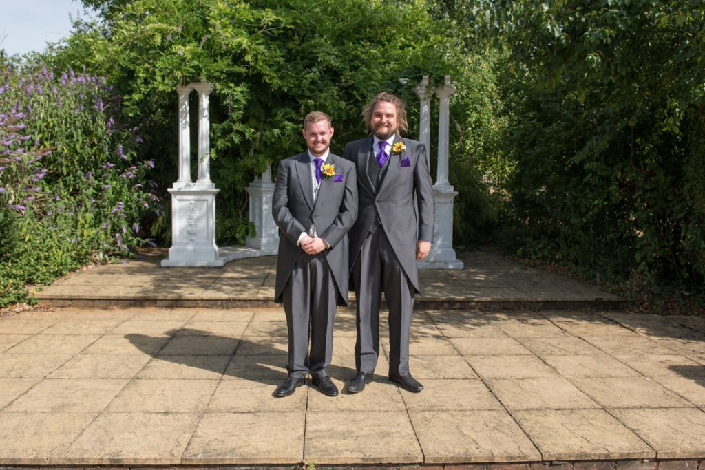 The groom and his best man