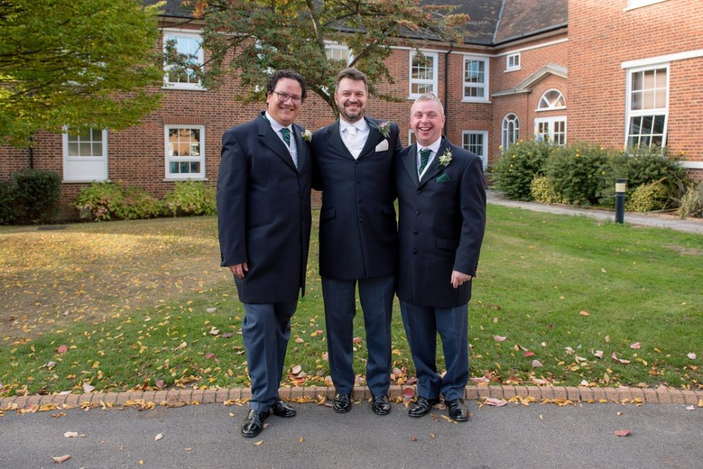 The groom with his best man and brother in law