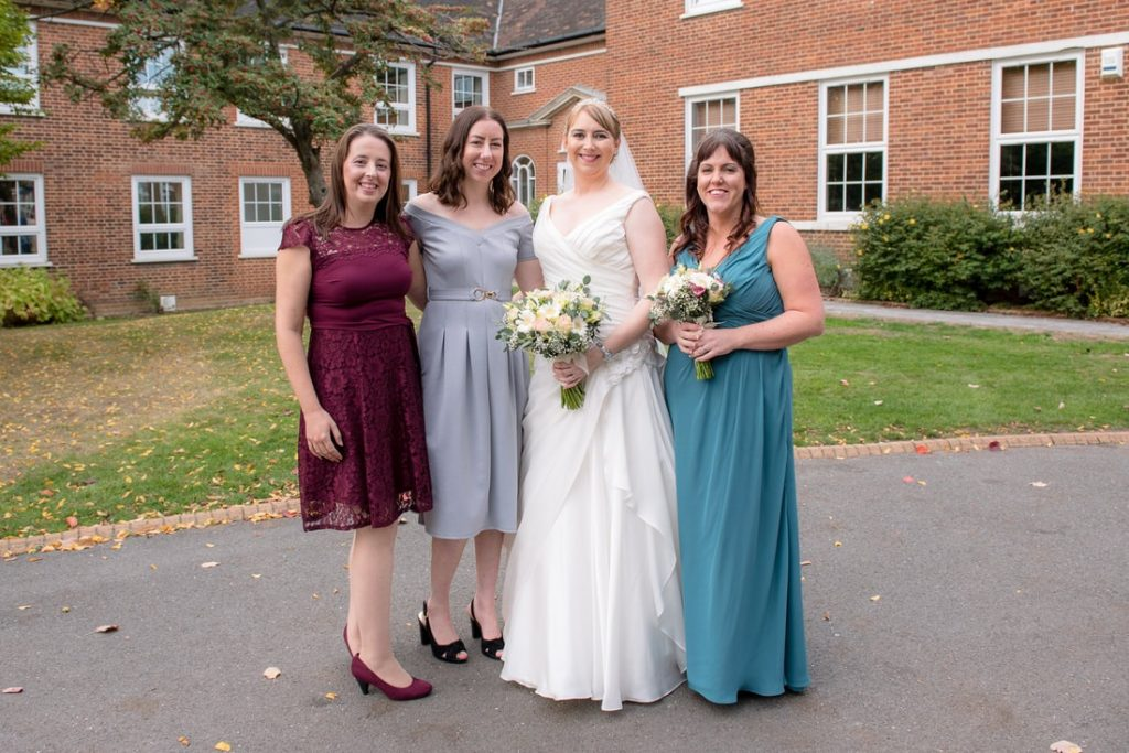 The bride and her Uni friends
