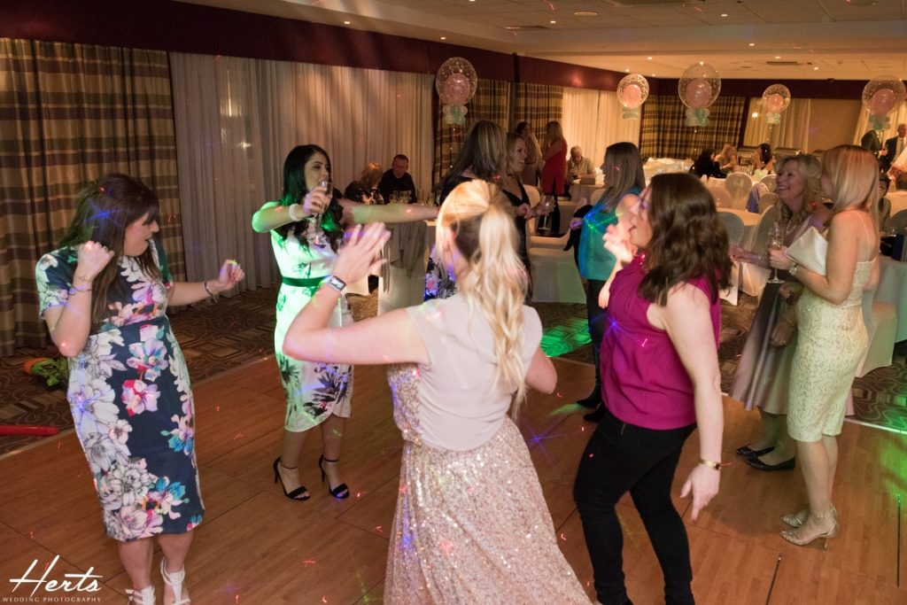 Guests dancing together at a Stevenage Holiday Inn Wedding