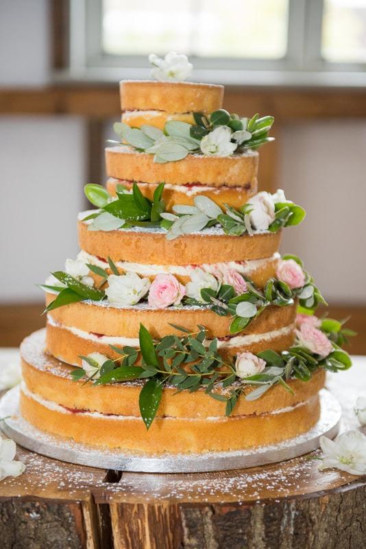 Wedding cake at milling barn