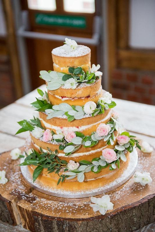 A 5 tier Sponge Wedding Cake