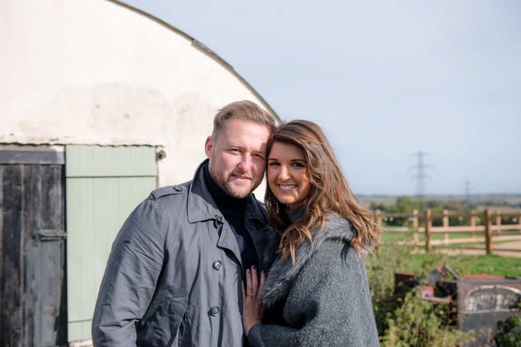 The bride and groom to-be at milling barn
