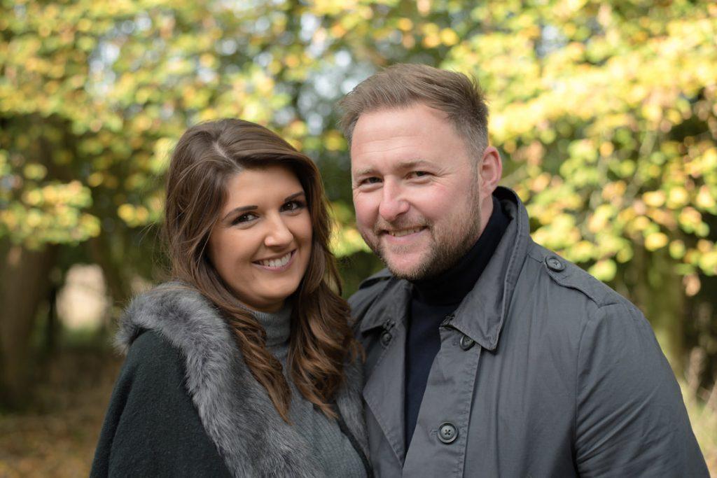 the beautiful engaged couple
