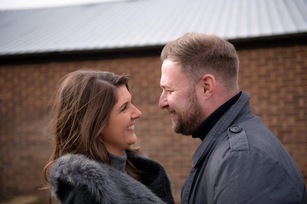 Engagement photos in throcking