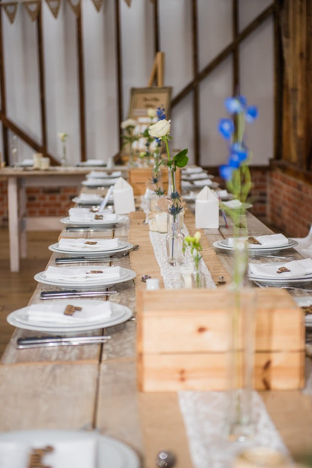 A view across the tables at Milling Barn