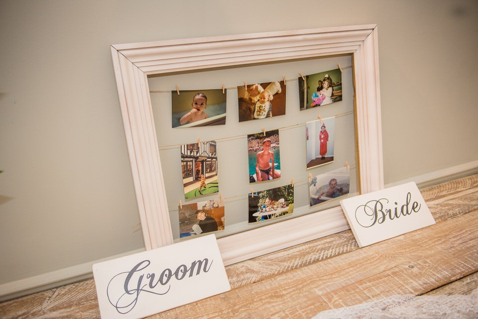 Photoframe of the bride and groom