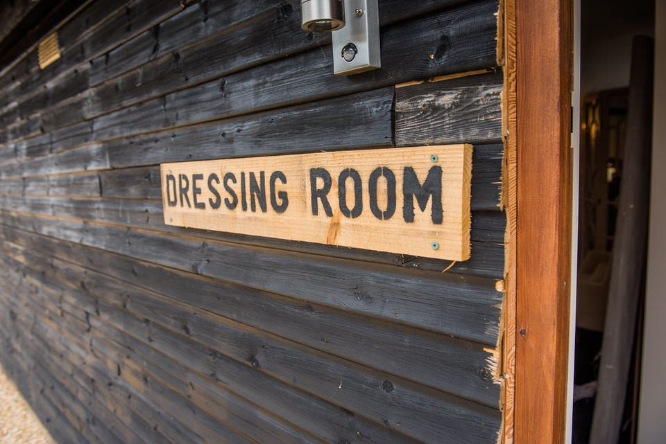 The dressing room at Milling Barn