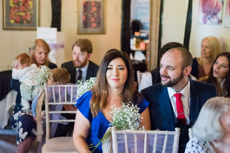 Wedding guests at Moreteyne Manor