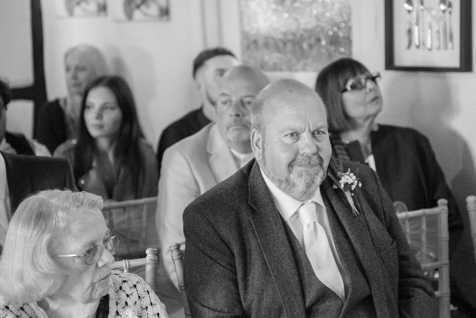 A wedding guest at the ceremony
