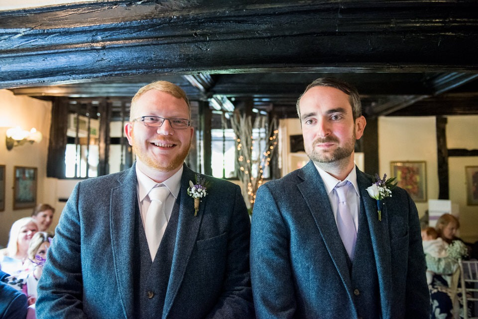 The groom and best man
