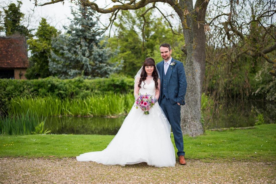 The Bride and Groom at Moreteyne Manor Wedding