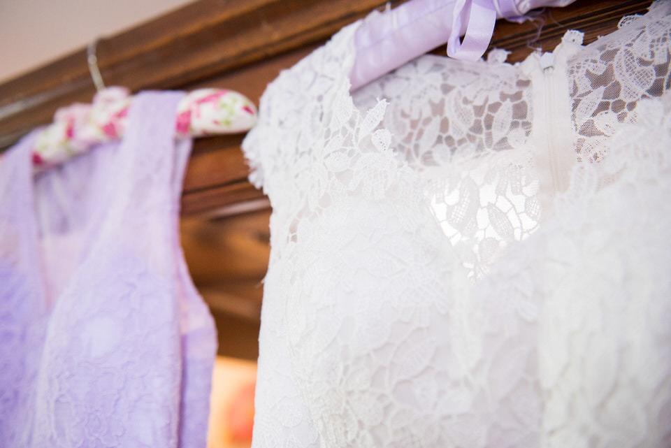 The birdal dress and bridesmaid dress