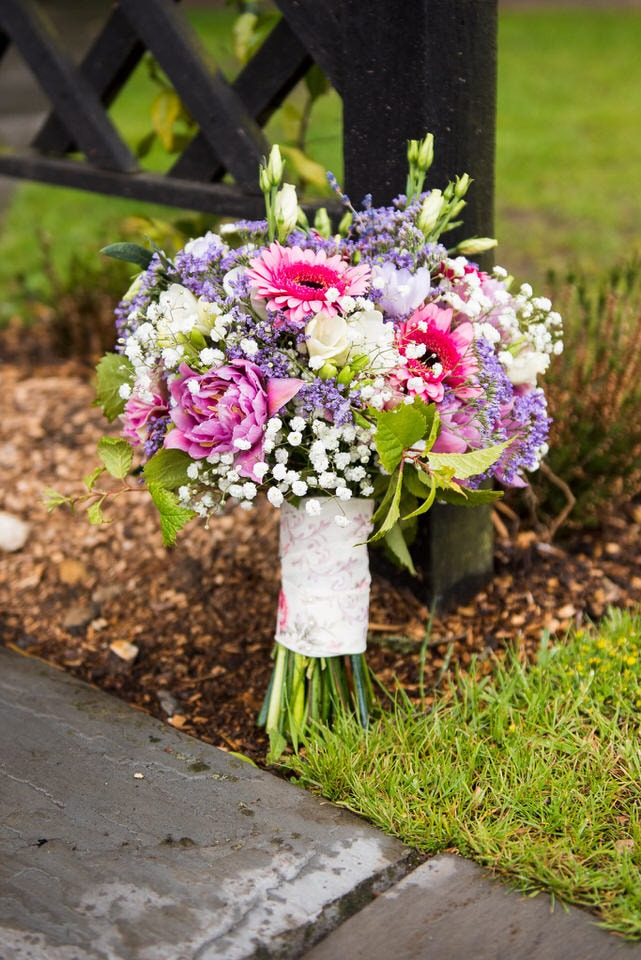 The bouquet of flowers for the bride