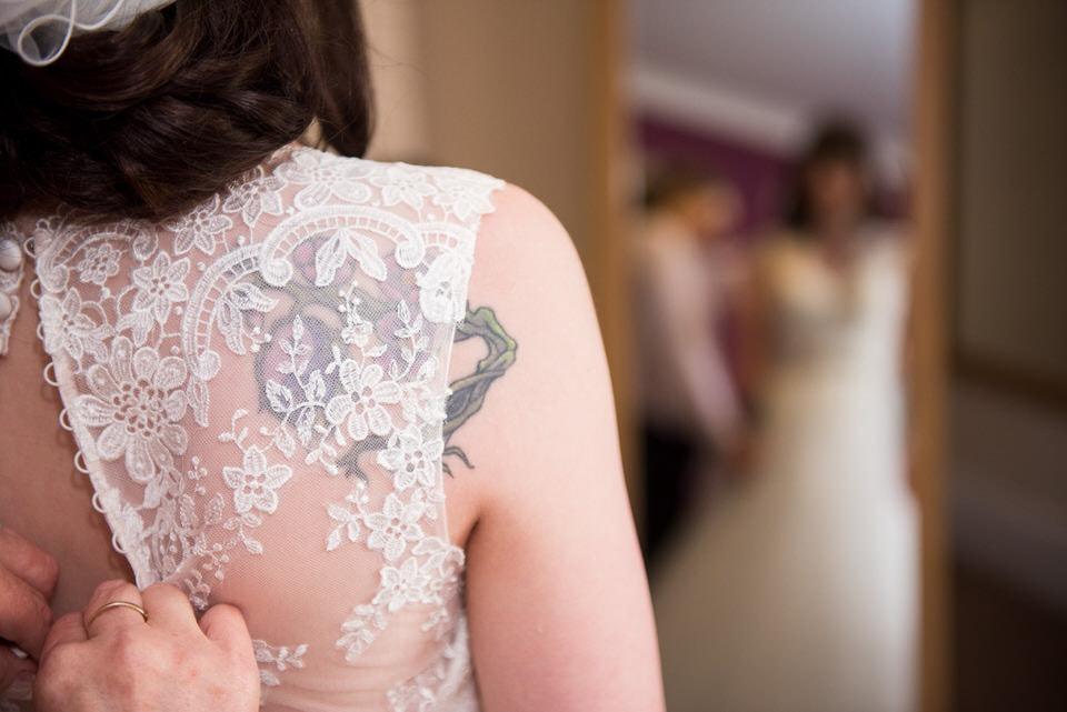 The bridesmaid's tattoo