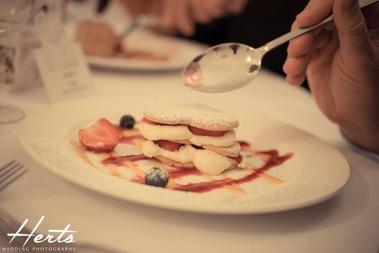 A delicious looking dessert