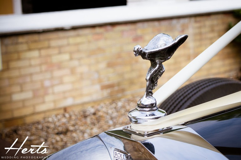 The rolls royce wedding car