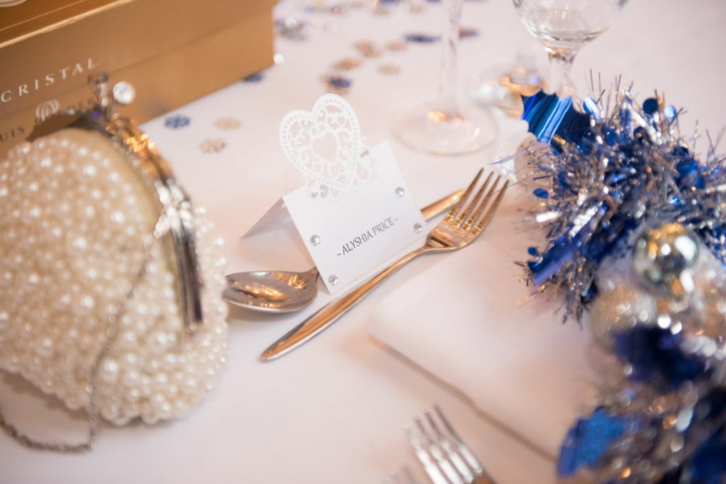A placename holder at the Essendon Country Club Wedding Venue