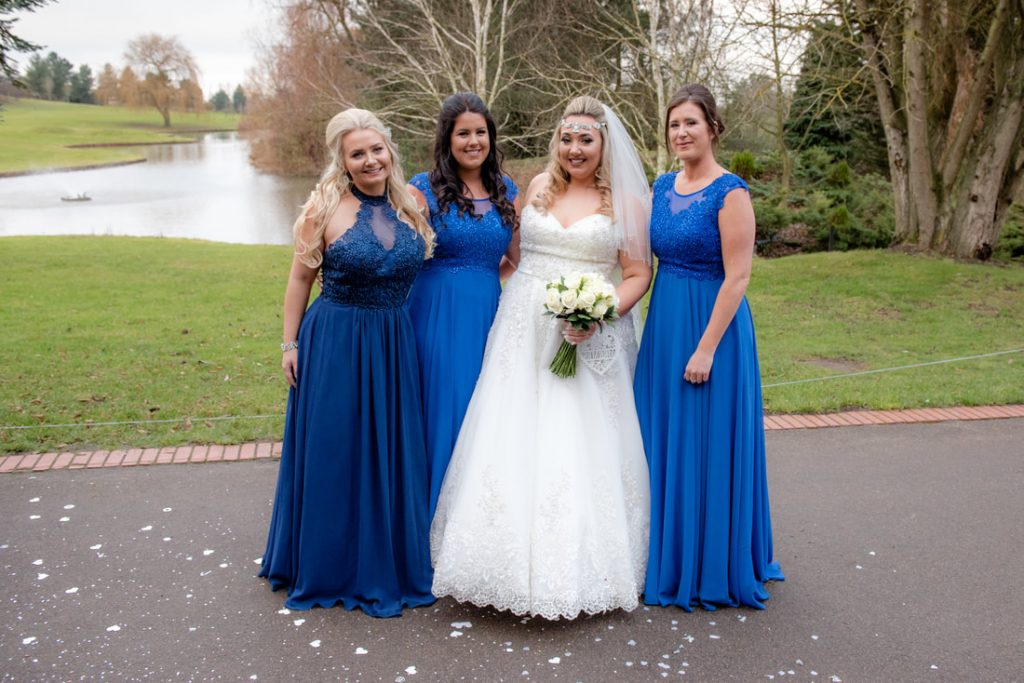 Wedding photos of the bridal party