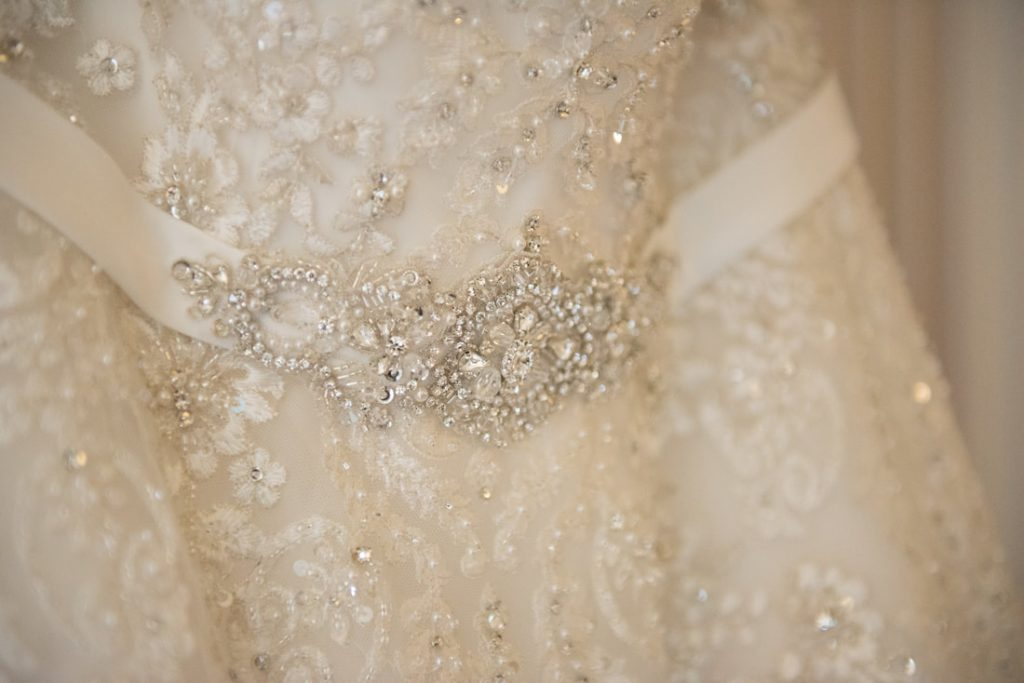 The wedding belt with small swarovski crystals
