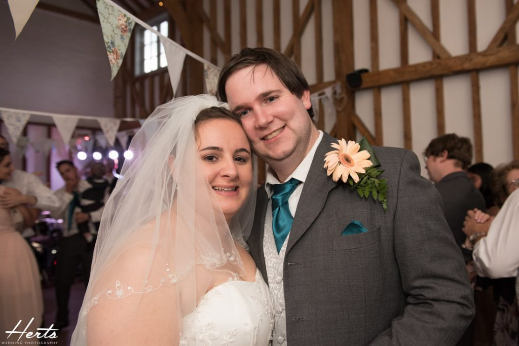 The bride and groom at Milling Barn